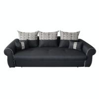 Canapea extensibila 3 locuri Alina, cu lada, neagra, 230 x 105 x 90 cm, 2C