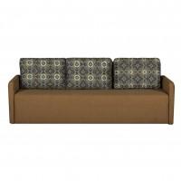 Husa pentru canapea extensibila 3 locuri Lovely, maro cu imprimeu, 1C