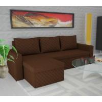 Coltar living extensibil pe stanga / dreapta Amadeo, cu lada, maro, 247 x 148 x 78 cm, 3C