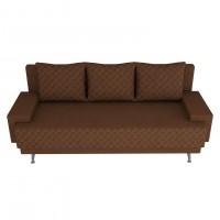 Canapea extensibila 3 locuri Karla, cu lada, maro, 205 x 84 x 78 cm, 2C