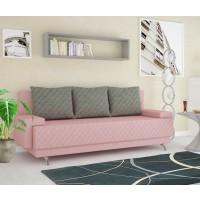Canapea extensibila 3 locuri Karla, cu lada, roz, 205 x 60 x 78 cm, 2C