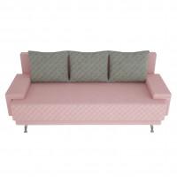 Canapea extensibila 3 locuri Karla, cu lada, roz, 205 x 84 x 78 cm, 2C