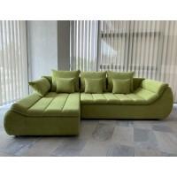 Coltar living extensibil pe dreapta Florence, cu lada, verde, 280 x 170 x 75 cm, 3C