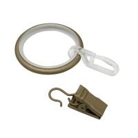 Inel cu carlig Gardinia Kira, metal, 19 mm, 3.9 cm, cappuccino, 10 buc /set