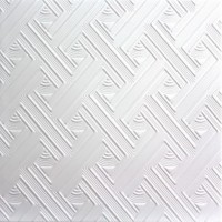 Tavan fals decorativ din polistiren C2007 modern alb 50 x 50 x 0.3 cm