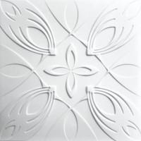 Tavan fals decorativ, polistiren extrudat, C2052, modern, alb, 50 x 50 x 0.3 cm