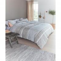 Lenjerie de pat Natural Cord, 2 persoane, bumbac, 4 piese