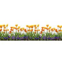 Panou decorativ bucatarie Splashback, compozit, luminescent, SPB 007, floral, 4000 x 600 x 3 mm