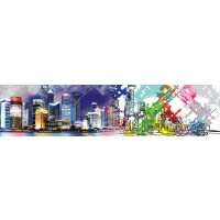 Panou decorativ bucatarie Splashback, compozit, luminescent, SPB 025, urban, 2600 x 750 x 3 mm