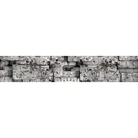 Panou decorativ bucatarie Splashback, compozit, luminescent, SPB 026, metalic, 4000 x 750 x 3 mm