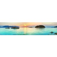 Panou decorativ bucatarie Splashback, compozit, luminescent, SPB 049, 60 x 200 cm