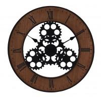 Ceas perete, metal, analog, rotund, Koopman HZ1300630, 57 cm