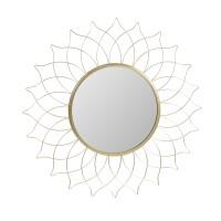 Oglinda decorativa HZ2001320, rama in forma de floare, 50 cm