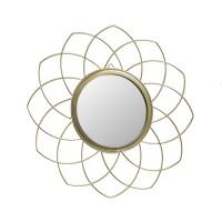Oglinda decorativa HZ2001330, rama in forma de floare, 26 cm