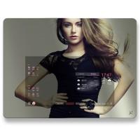 Oglinda inteligenta Allview Smart Mirror Siebo M1, 60 cm, Full HD, sistem operare Android, touchscreen, Wi-Fi, Bluetooth, Multitasking