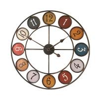 Ceas de perete YQ2019, analog, rotund, din metal, diametru 60 cm