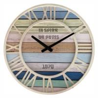 Ceas de perete YQ0002, analog, rotund, din metal + MDF, diametru 40 cm