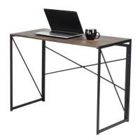 Birou calculator Harper, pliabil, maro + negru, 100 x 75 x 50 cm