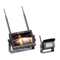 Kit mers inapoi sau marsarier pentru camion Midland Truck Guardian Wireless C1331, camera + monitor fara fir, ecran 7 inch, functie DVR, slot card SD, telecomanda
