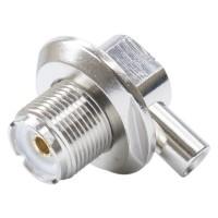 Montura PNI SO-239 mama pentru cablu RG58, otel inoxidabil