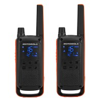 Statie radio emisie / receptie PMR portabila Motorola Talkabout T82, set 2 bucati, functie Vox, blocare tastatura, squelch digital, Roger Beep, scanare canale, Dual watch, apel de urgenta