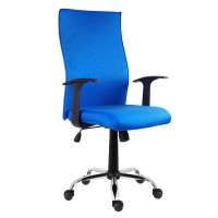 Scaun birou ergonomic Texas, rotativ, material textil, albastru