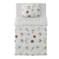 Lenjerie de pat, copii, 1 persoana, Dormeo Dreamspace, bumbac 100 %, 140 x 200 cm, 2 piese, multicolor