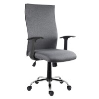 Scaun birou ergonomic Texas, rotativ, material textil, gri