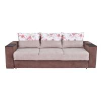Canapea extensibila 3 locuri Dante S, cu lada, crem + maro, 235 x 96 x 77 cm, 4C