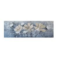 Tablou canvas DED-197118, compozitie cu flori, pe panza, 40 x 120 cm