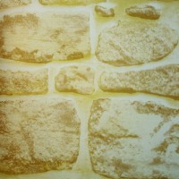 Autocolant pietre / caramizi Gekkofix 10165, maro deschis, 0.45 x 15 m