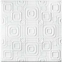 Tavan fals decorativ din polistiren C2070 modern alb 50 x 50 cm
