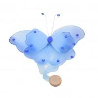 Magnet decorativ perdea si draperie, Fluture D1149, 14 x 13 cm, diverse culori