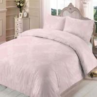 Lenjerie de pat, 2 persoane, Enigma Pink, bumbac ranforce, 4 piese, roz