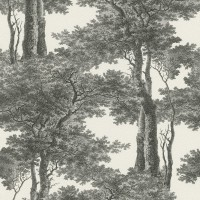 Tapet fibra textila, model arbori, Rasch Passepartout 605419, 10 x 0.53 m