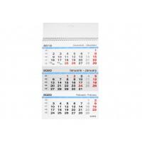 Calendar perete 2020, hartie lucioasa, format A3, triptic, 12 coli