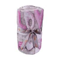 Cuvertura de pat, Shabby chic  B229-001, poliester 100%, 250 x 250 cm, roz