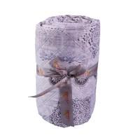 Cuvertura de pat, Shabby chic  Q401-001, poliester 100%, 250 x 250 cm, gri perlat