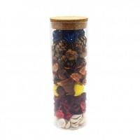 Decoratiune cu flori parfumate, D2940, sticla, 25 cm