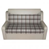Canapea extensibila 2 locuri Celinne, cu lada, crem + model carouri, 148 x 90 x 95 cm, 1C