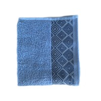 Prosop baie Diamond, bumbac, albastru, 50 x 90 cm