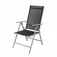 Scaun pentru gradina, pliant, Sevilia, metal + textilen