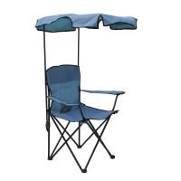 Scaun pentru camping 20252B, pliant, cu protectie solara, structura metalica