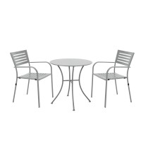 Set masa rotunda, cu 2 scaune, pentru gradina Lion, din metal