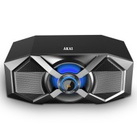 Sistem audio Akai ABTS-P6, 1 boxa activa, 240 W, Bluetooth, USB, Aux in, radio FM, egalizator, functie X-Bass, display digital, negru