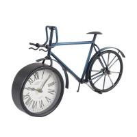 Ceas birou YQ036, analog, model bicicleta, metal, 33.5 x 9.5 x 21.5 cm