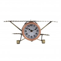 Ceas birou YQ046, analog, model avion, metal, 35 x 21 x 14 cm
