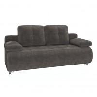 Canapea extensibila 3 locuri Verona, cu lada, gri inchis, 198 x 100 x 96 cm, 1C