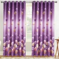 Draperie Atria, Dimout Flora 9122/16, poliester, violet, semiopac, H 280 cm