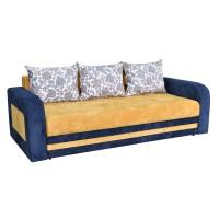 Canapea extensibila 3 locuri Delta, cu lada, albastru + galben, 230 x 109 x 80 cm, 4C